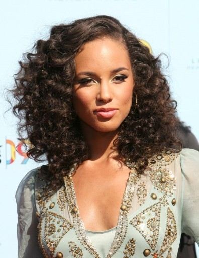 Alicia Keys' high volume curls