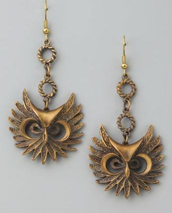 Alkemie Owl Earrings