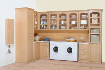 All Wood Laundry Room