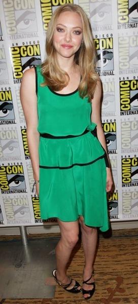 Amanda Seyfried in a layered dress
