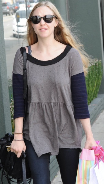 Amanda Seyfried in a grey top
