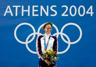 Amanda Beard at the 2004 Olympics