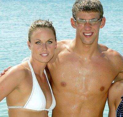 Amanda Beard and Michael Phelps