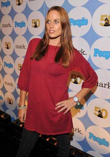 Amanda Beard at the Grammy Awards