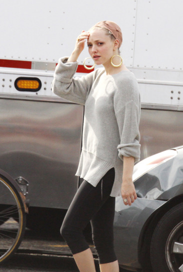 "Amanda Seyfried on the set of ""Lovelace"" in LA"