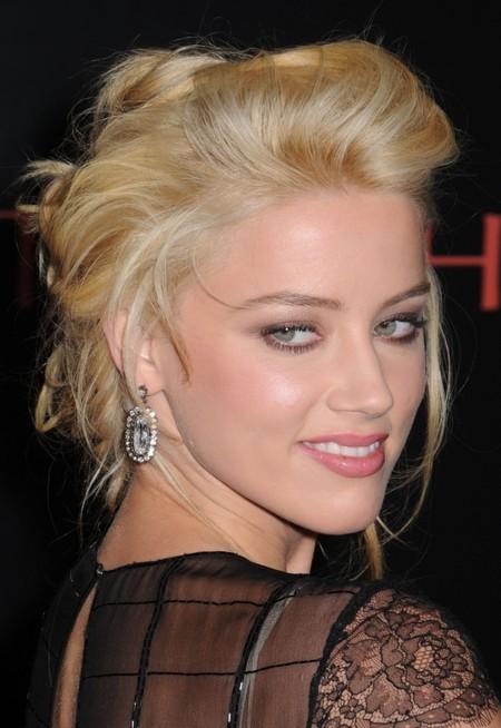 Amber Heard's Poofy Updo