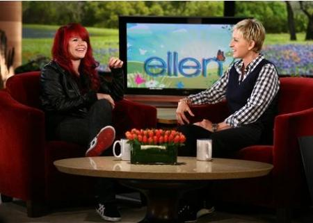 Allison Iraheta with Ellen Degeneres