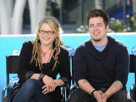 Crystal Bowersox and Lee Dewyze at American Idol Press Conference 5/24/10