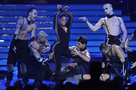 Janet Jackson and Backup Dancers at Finale 5/26/10
