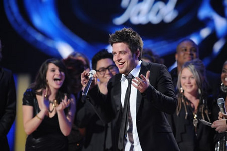Lee Dewyze Winning Moment at Finale 5/26/10