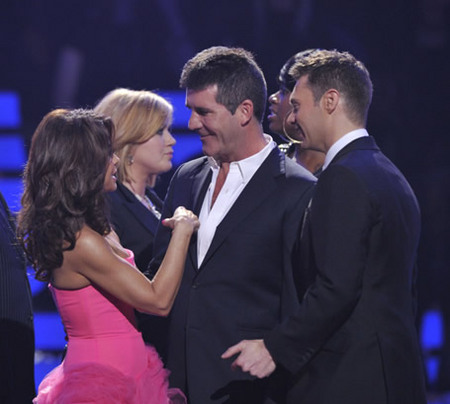 Paula Abdul, Simon Cowell and Ryan Seacrest at Finale 5/26/10