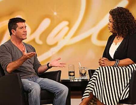 Simon Cowell and Oprah Winfrey