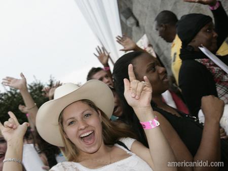 American Idol Season 9 Atlanta Auditions Girl in Cowboy Hat