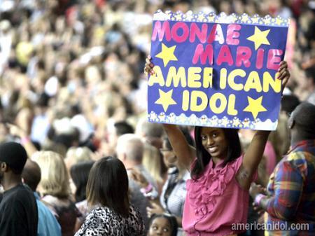 American Idol Season 9 Atlanta Auditions Girl in Pink Shirt