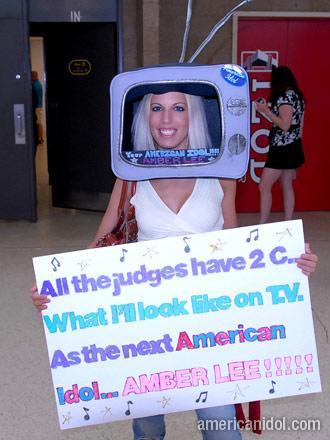 American Idol Season 9 Auditions Girl on TV