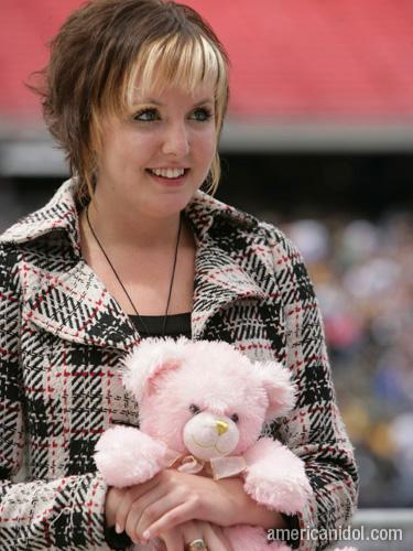 American Idol Season 9 Boston Auditions Girl Holding Teddy Bear