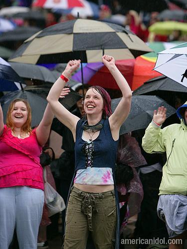 American Idol Season 9 Boston Auditions Lady in the Rain