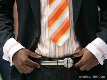 American Idol Season 9 Boston Auditions Microphone Belt Buckle