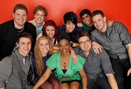 American Idol Season 8 top 10 contestants