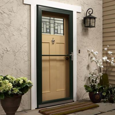 Andersen 3000 Series Forest Green Aluminum Self-Storing Storm Door