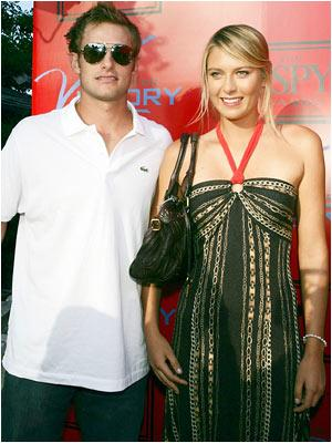 Andy Roddick and Maria Sharapova