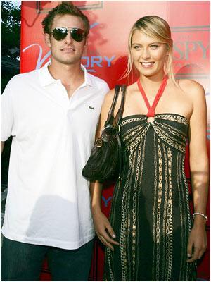 Andy Roddick and Maria Sharapova