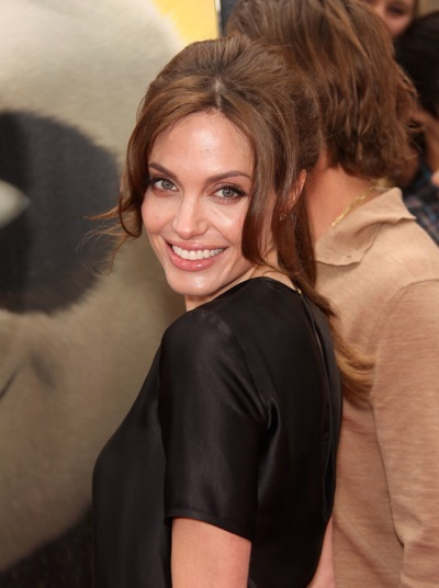 Angelina Jolie in a ponytail