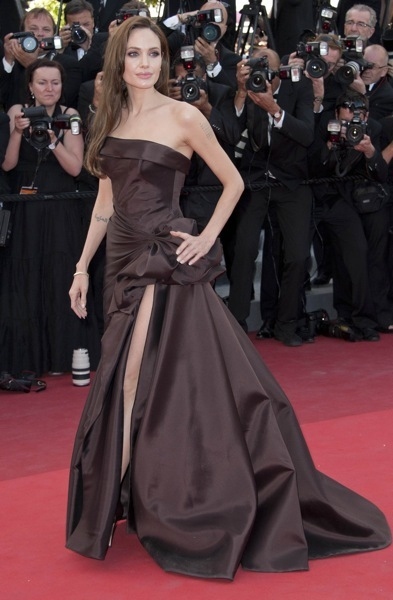 Angelina Jolie in an evening gown