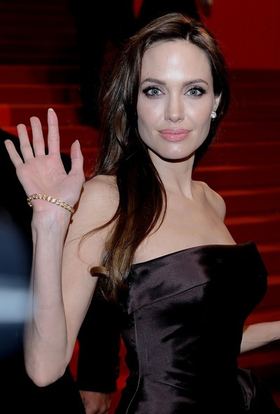 Angelina Jolie with bracelets