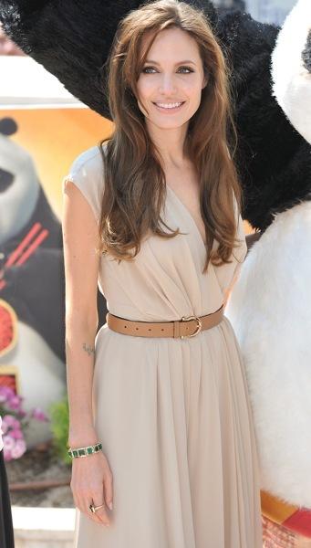 Angelina Jolie matches accessories