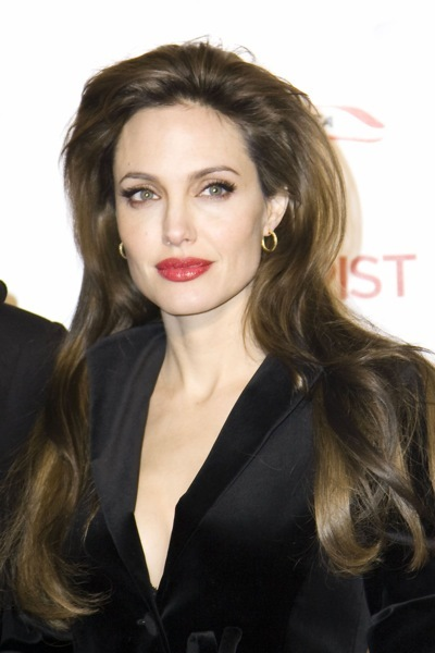 Angelina Jolie with bright lips