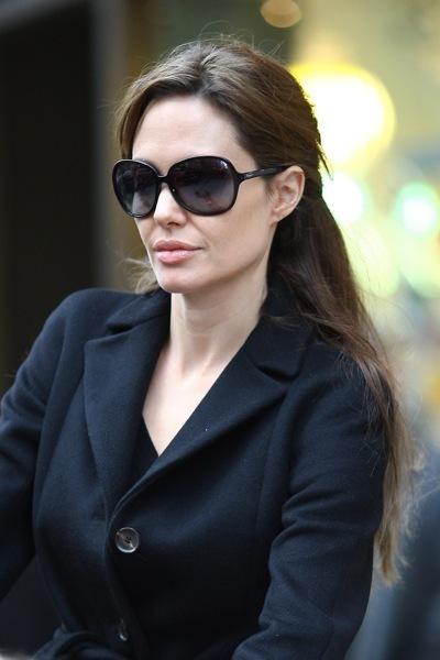 Angelina Jolie in a half updo