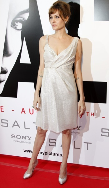 Angelina Jolie's asymmetrical dress