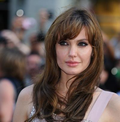 Angelina Jolie in full bangs