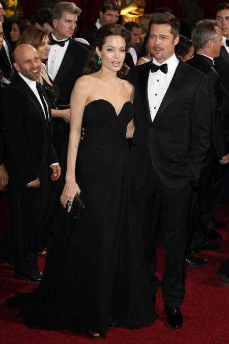 Angelina Jolie and Brad Pitt at the 91st Annual Academy Awards