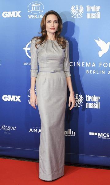 Angelina Jolie in grey