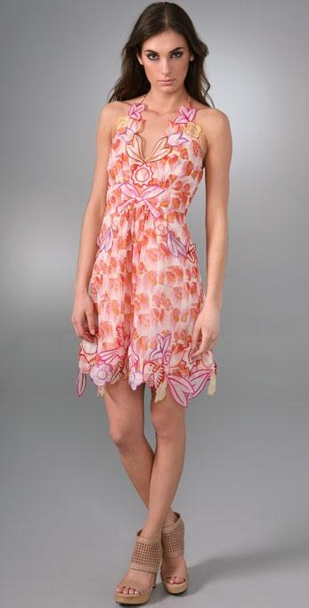 Anna Sui Floral Halter Dress