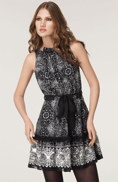 Anna Sui Tie Waist Silk Dress