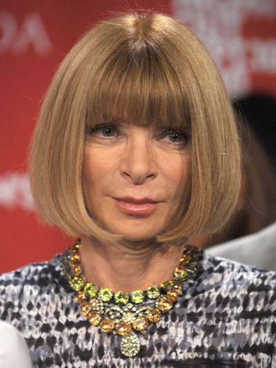 Anna Wintour's classic bob hairstyle