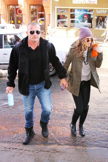 Annalynne McCord and boyfriend Dominic Purcell enjoy the Sundance Film Festival