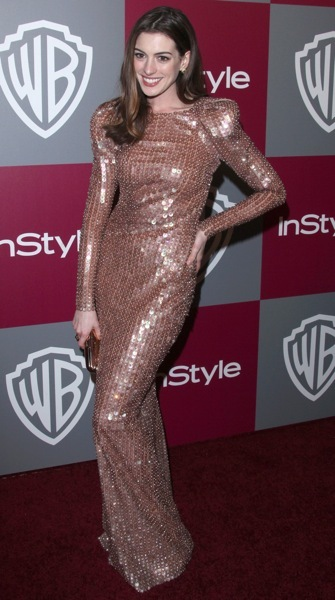 Anne Hathaway in sequins