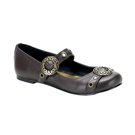 Brown Mary Jane Ballet Flats