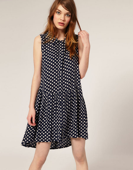 ASOS Spotted Shift Dress