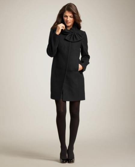 Ann Taylor Black Wool Coat