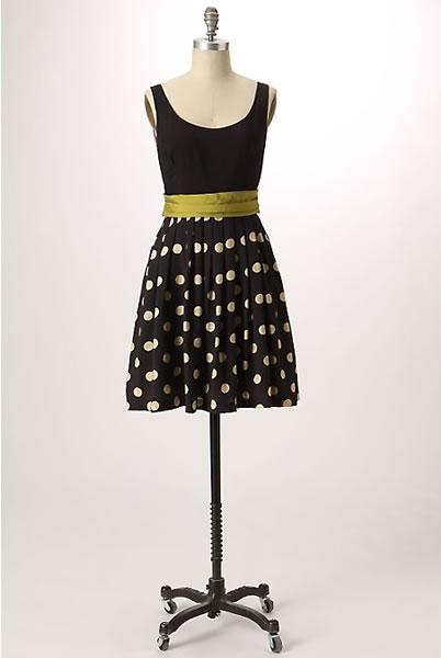 Anthropologie Corey Lynn Calter Slice of Lime Dress