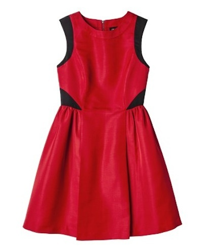Apple red dress