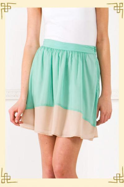 Flirty Aqua Skirt