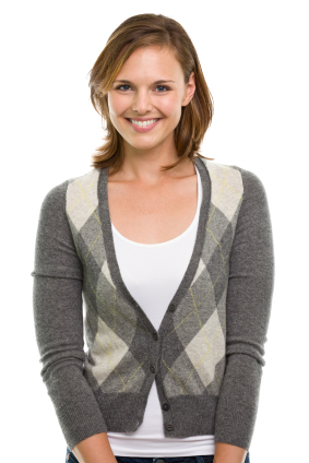 Argyle cardigan