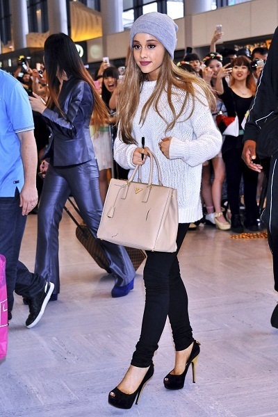 Ariana Grande Airport Style Celebrity Street Style