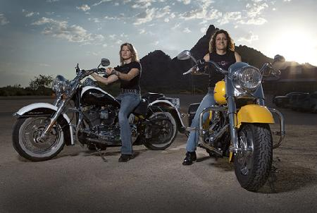 Arizona Harley-Davidson Riders Nat and Darnell